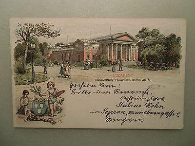 Ansichtskarte Ungarn Mücsarnok Palais des Beaux Arts 1898 Litho