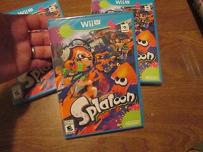 Splatoon (Nintendo Wii U, 2015) VIDEOGAME NEW FACTORY SEALED
