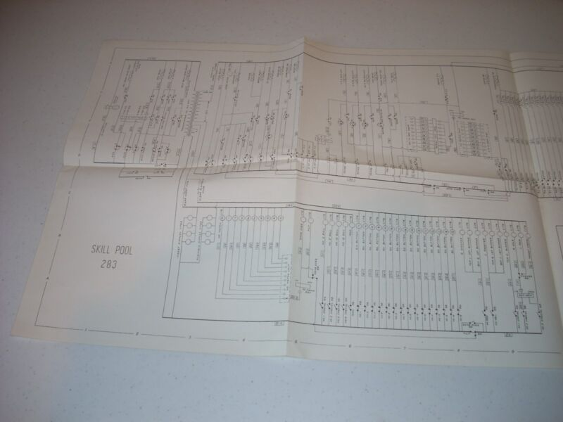 WILLIAMS SKILL POOL  Schematic Original NM 1963 Game 283 complete
