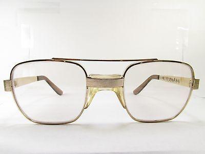 American Optical Styleguard II Z87 EYEWEAR FRAME 46-18-140 gold aviator TV5 3997