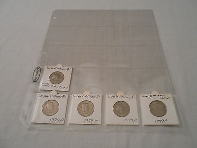 SALE! Coins: Susan B Anthony Dollar Coin Collection: 5 Coins: 1979-P/ 1999-P