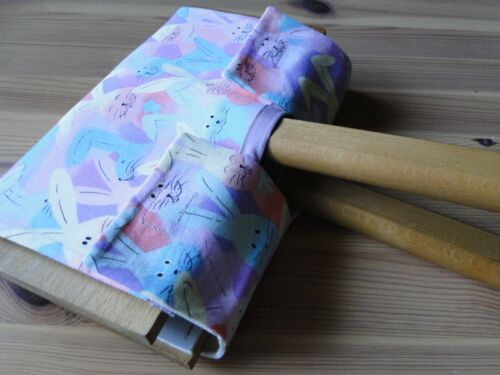hand carders COVER carding spinning weaving fiber combs combing CUTE bunnies