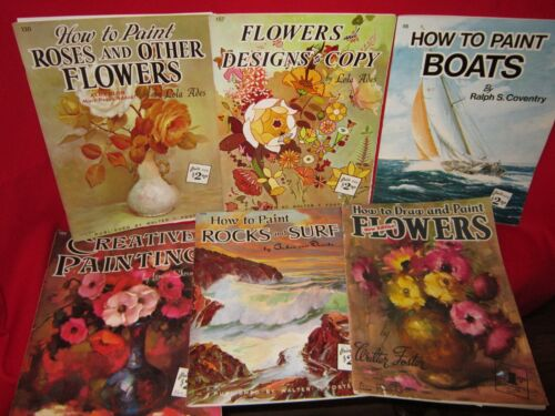 Lot of 6 Vintage Walter Foster How to Paint Books