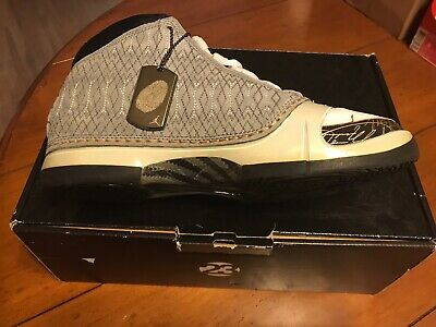 *NEW* Nike Air Jordan XXIII, Size 8, WHITE STEALTH/GREY BLACK GOLD, Shoe Tag, CD