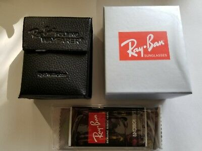New RayBan Black Wayfarer Folding Sunglasses Case w/ cleaning cloth (Wayfarer Sunglasses Case)