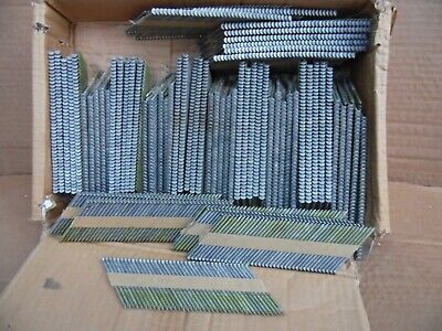 New 1000 Piece 2 38 X.113 Framing Nails Paper Strip Hot Dipped Smooth Shank