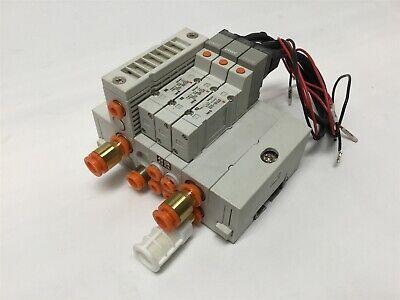 Lot Of 3 Smc Sy3140-5loz Solenoid Control Valves 2-position 5-way 0.15-0.7mpa