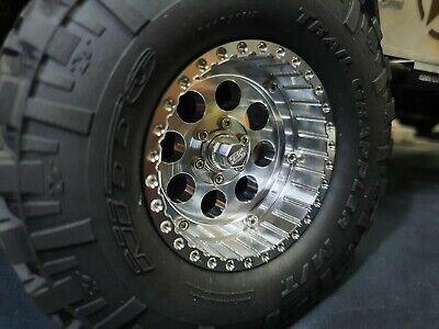 4PCS Aluminum 2.2 inch Beadlock Wheels & Wheels Cap Lims for 1/10 RC Crawler