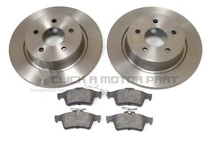 REAR 2 BRAKE DISCS AND PADS SET NEW FOR MAZDA 3 SALOON 1.6 1.6d 2009-2013