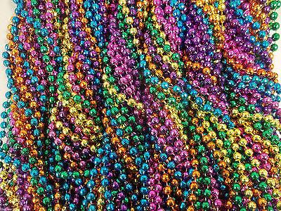 72 Neon Colors Mardi Gras Beads Necklaces Party Favors 6 Dozen Lot Global Disco