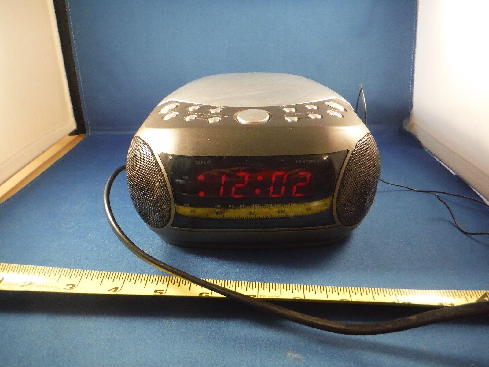 Brookstone CD Clock Radio WORKS