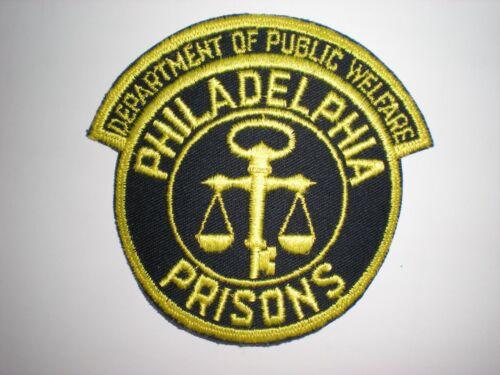 PHILADELPHIA, PENNSYLVANIA PRISONS SYSTEM PATCH