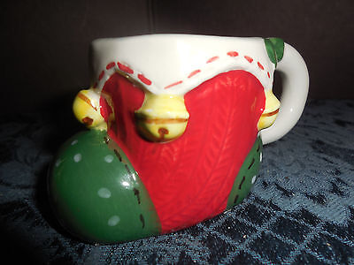 CERAMIC CHRISTMAS BOOT FROM MICHAEL'S  TOOTHPICK/MATCH HOLDER  EUC