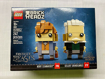 LEGO 41631 BrickHeadz Newt Scamander #76 and Gellert Grindelwald #77 New Sealed