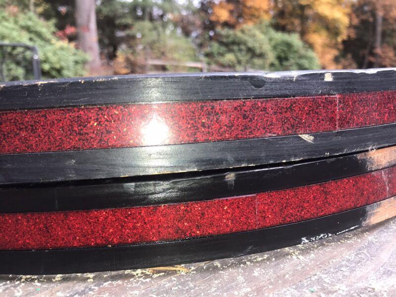 "22"" RED SPARKLE Bass Drum Hoops Vintage MIJ"