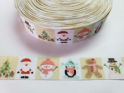 "5 Yards 1"" Christmas Grosgrain Ribbon Hair Bow Supply. for sale  Perris"