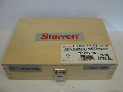 Starrett 780xtz-500 Digital Internal Micrometer 38-1210-12.5mm 3 Pt 12024