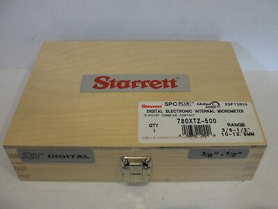 Starrett 780xtz-500 Digital Internal Micrometer 38-1210-12.5mm 3 Pt 12024