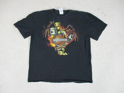Harley Davidson Shirt Adult Extra Large Black Wisconsin Motorcycle Biker Men A1