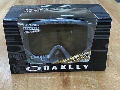 Oakley L Frame Sand MX Goggle (Silver Chrome) Clear & Dark Grey Lens