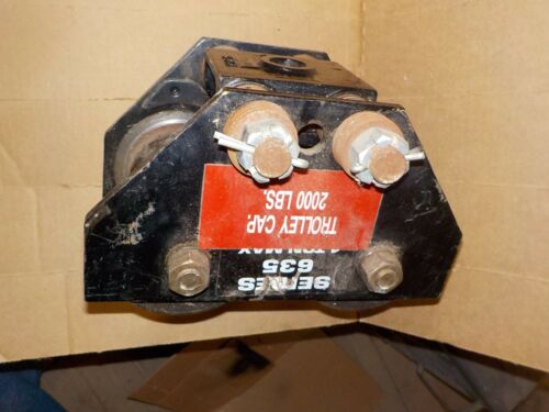 $262.00  Made USA CM Low Headroom Manual Trolley Series 635 2,000 LBS 1 TON