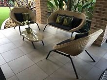 BRAND NEW Outdoor Lounge Setting Dark Grey Glass & Wicker 4 Piece Set Coffs Harbour 2450 Coffs Harbour City Preview