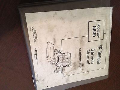 Bobcat 5600 Wheel Loader Toolcat Service Manual Melroe Ir