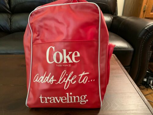 Vintage Coca Cola Coke Adds life to… traveling Hand Bag Rare (Make an offer)