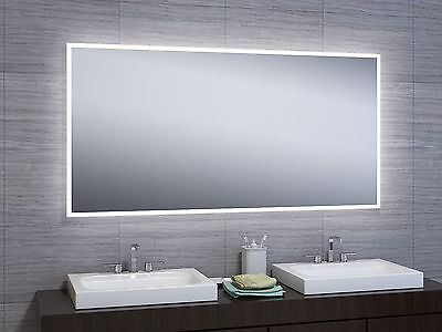 "30""x60"" LED Illuminated Wall Mount Bathroom Vanity Mirror w/ Motion Touch Sensor"