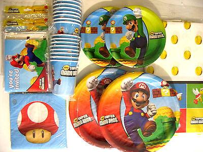 Super Mario Bros Mario Brothers - Geburtstagsparty Lieferungen Super Set (Super Mario Brothers Geburtstag)