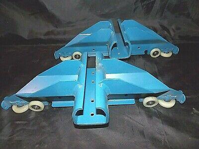 New Smaller Set Of 2 Blue Gorbel Inc. Crane End Truck Trolleys