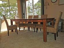Large Rustic Timber Plank Dining Table Toronto Lake Macquarie Area Preview