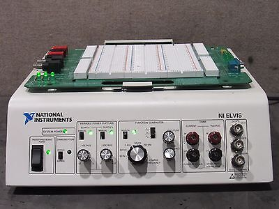 National Instruments NI Elvis Circuit Prototyping Board W/ Board & Power Supply