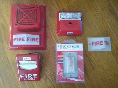 Lot Of Rare Fire Alarms - Edwards Space Age Standard Simplex Viking