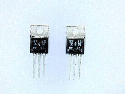 Irf521 Original Ir Mosfet Transistor 2 Pcs