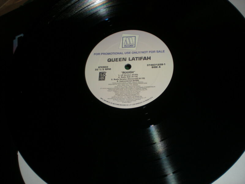 Queen Latifah Rough VINYL I Can't Understand rap guests Heavy D KRS One Treach