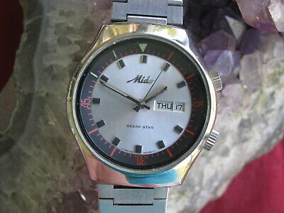 083052bea69 Mido Ocean Star Stainless Steel Automatic Day Date Dive Sport Watch