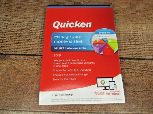 Quicken Deluxe 2019 Software for Windows & Mac (Fast Shipping)