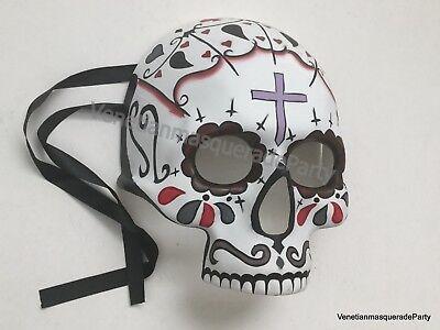 Unisex Day of Dead Event Masquerade Dia de los Muertos Festival Sugar Skull Mask - Dia Los Muertos Masks