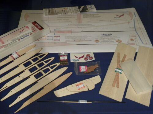 Model Glider kit HAWK DLG Glider 600mm span adjustable flight surfaces
