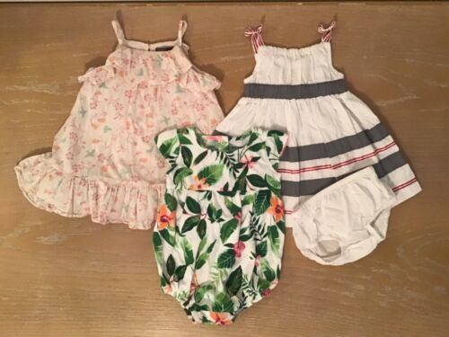 Infant Girls Baby Gap/gymboree/old Navy/other Clothing Lot Of 4 Size 6-12 Months