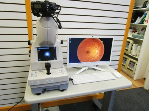 Topcon TRC-NW8 Non-Mydriatic Fundus Camera and Electric Table - 60 Day Warranty