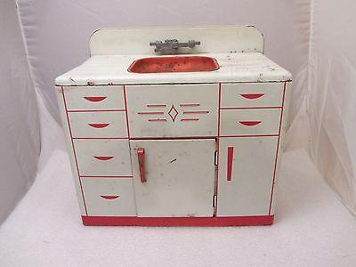 """Vintage Metal Children's Toy Play Kitchen SINK """"WOLVERINE"""""""