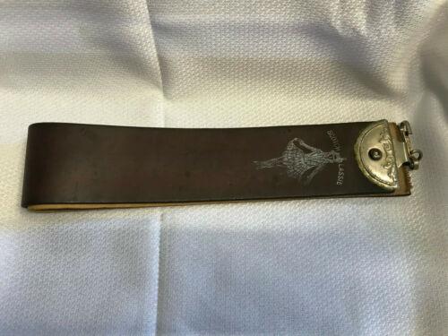 Vtg Scotch Lassie Leather Strop Razor Sharpener Baltimore MD Barber School