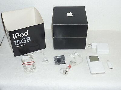 Apple iPod Classic 3. Generation Weiß 15GB mit Originalverpackung Ipod Classic 3. Generation