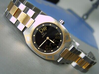 MENS OMEGA POLARIS WATCH S/STEEL 18CT GOLD excellent condition