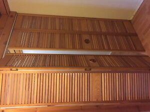 Portes pliantes en bois