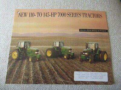 John Deere 7600 7700 7800 7000 Series Tractor Brochure 32 Pages