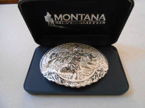 RARE MONTANA SILVERSMITHS 1997 RAPID FIRE WORLD CHAMPION BULL RODEO BELT BUCKLE