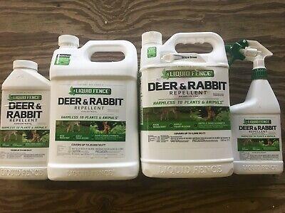 Deer Repellent Concentrate - Liquid Fence Deer and Rabbit repellent RTU or Concentrate
